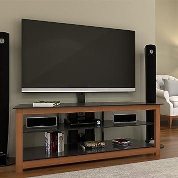 Amazon Com Ryan Rove Bombay Floor Tv Stand With Cherry Wood Mount