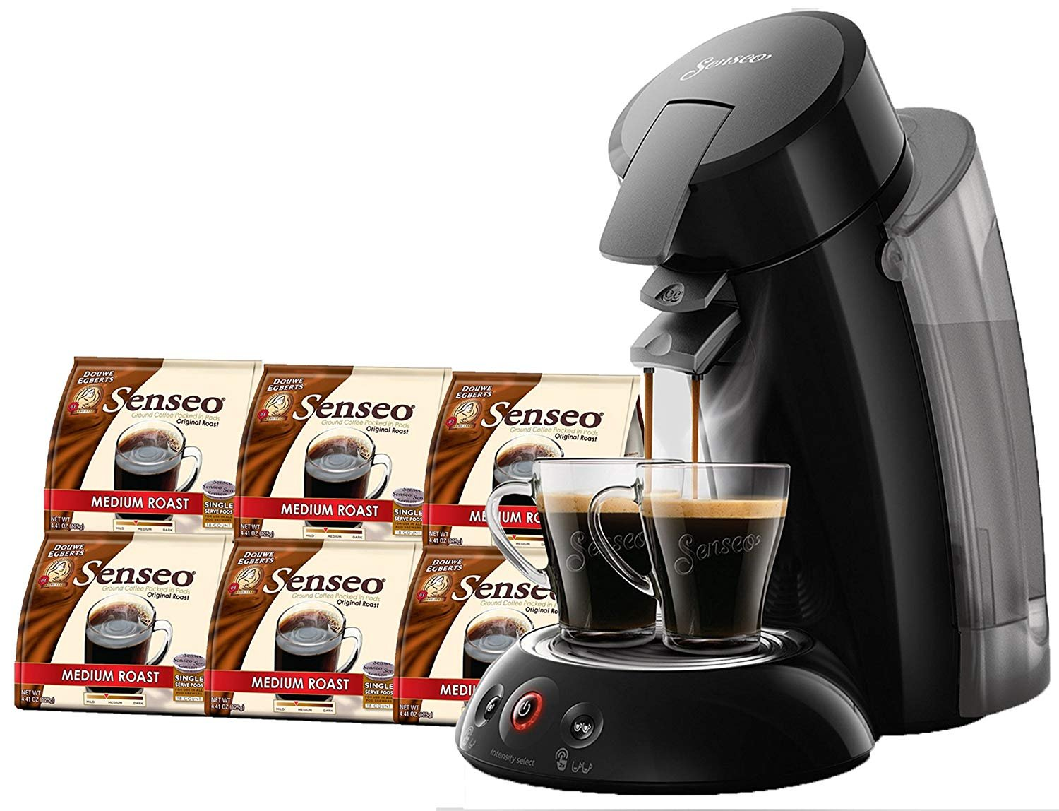 SENSEO Original XL Coffee Pod Machine, Coffee Maker, Coffee Machine, Espresso Machine for Senseo Coffee Pods, 2018 Edition, Black 20075020051848