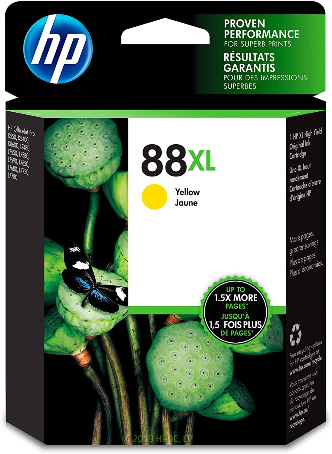 HP 88XL | Ink Cartridge | Yellow | C9393AN