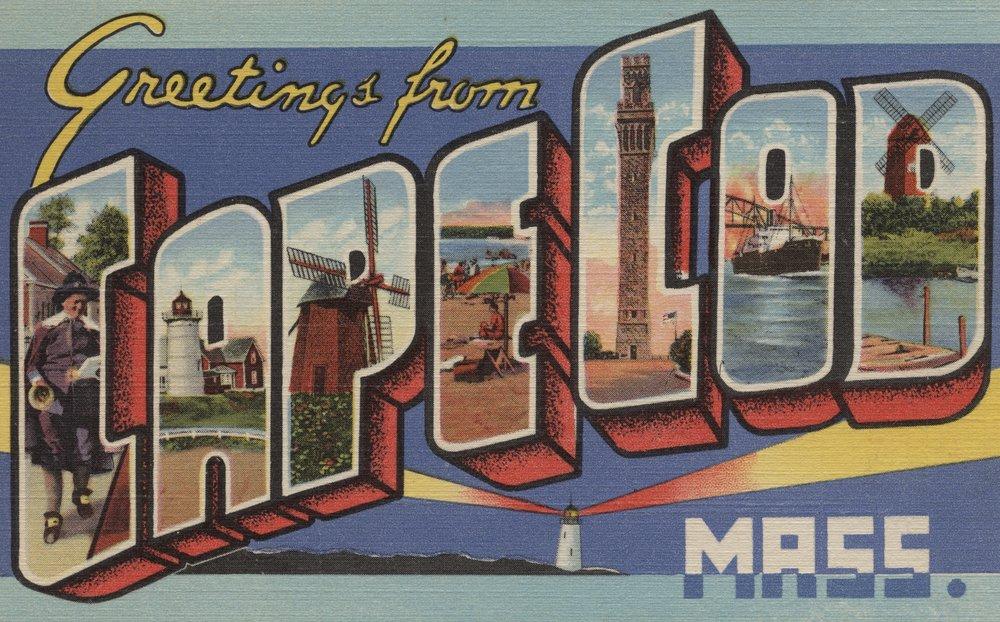 Greetings from Cape Cod , Massachusetts 24 x 36 Signed Art Print LANT-6944-710 B07B2DXTQD  24 x 36 Signed Art Print
