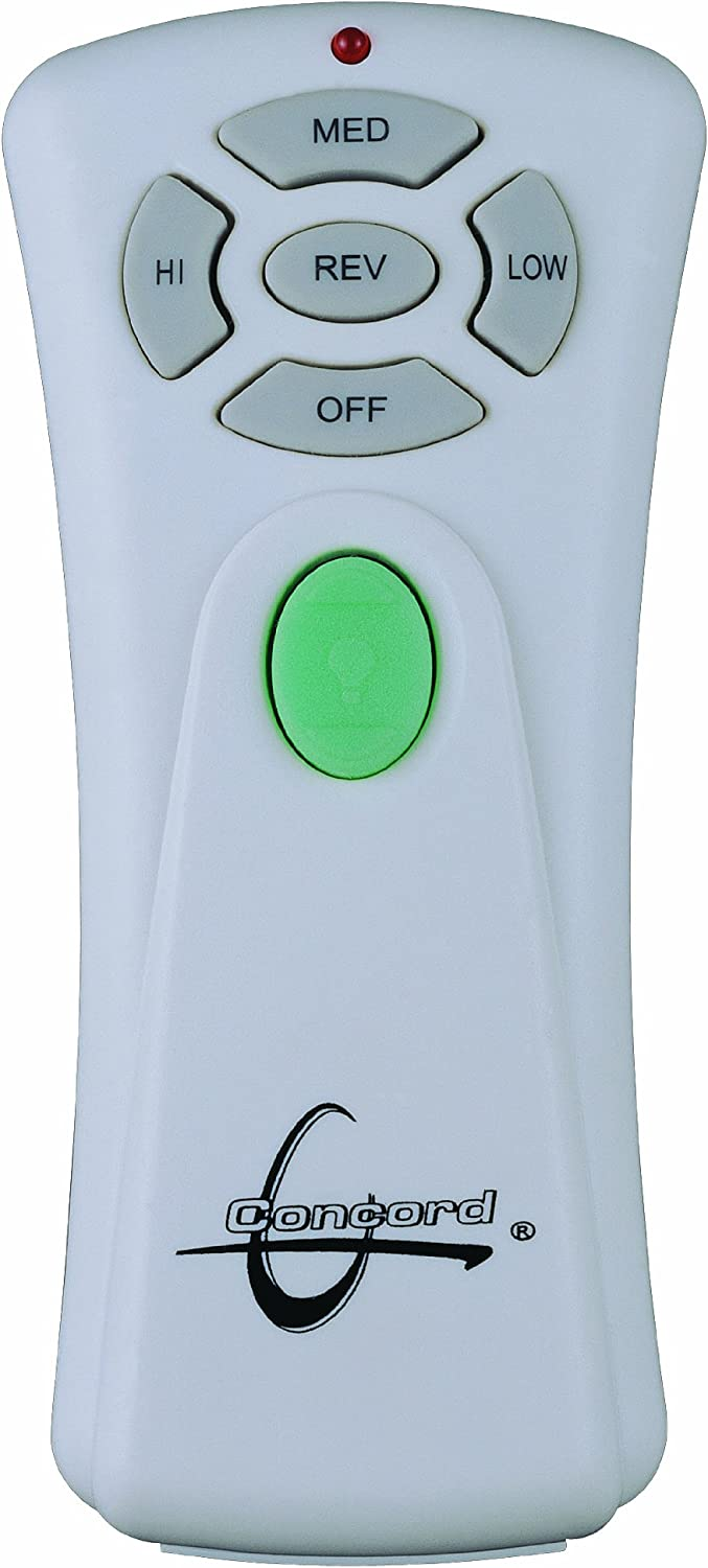 Compatible with Masion Hugger Ceiling Fans Concord Fans RM-08-R Remote Wall Control Set