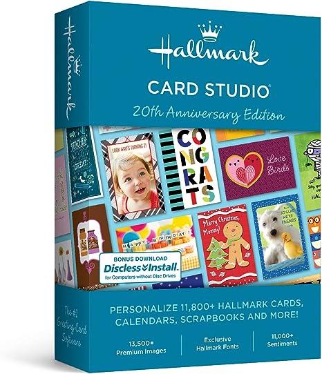 Amazon. Com: hallmark card studio- new version: software.