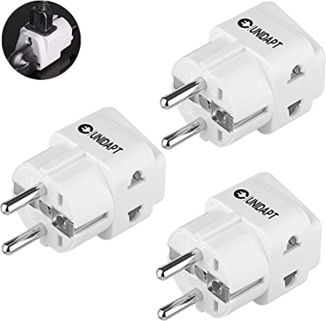 Quality Top Converter Socket Power Good 2 Pin AC Travel Adapter UK To EU Plug