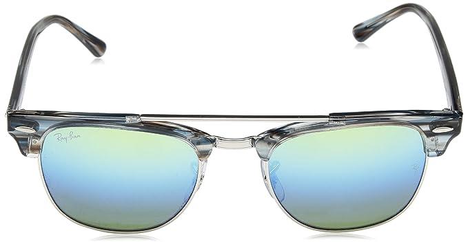 d2d51e8e42f Amazon.com  Ray-Ban 0rb38161239i251clubmaster Doublebridge Non-Polarized  Iridium Square Sunglasses
