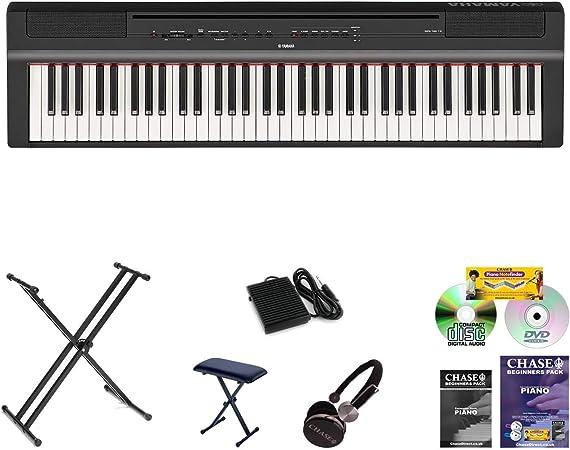 Nuevo modelo Yamaha P121 Piano digital de escenario en negro ...