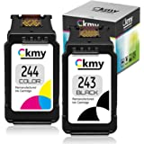 CKMY Remanufactured 243 244 Ink Cartridge Replacement for Canon PG243 CL244 245 246 Combo Pack for MG3022 MG2522 TR4520 TR452