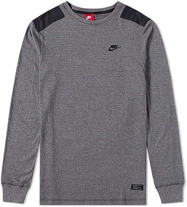 crema lealtad gorra  Amazon.com: Nike 925440-071 Sportswear - Camiseta de manga larga para  hombre Air Force 1 (talla pequeña), color gris oscuro y negro: Clothing
