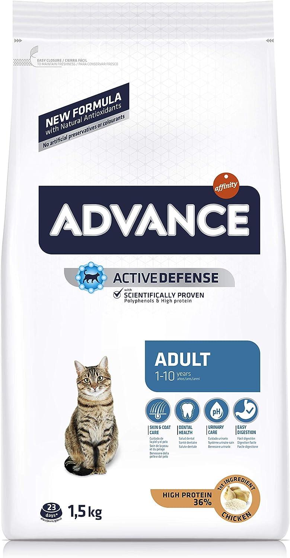Advance Pienso para Gatos Adultos con Pollo y Arroz - 1500 gr ...
