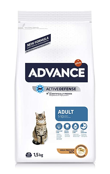 Advance Pienso para Gatos Adultos con Pollo y Arroz - 1500 gr