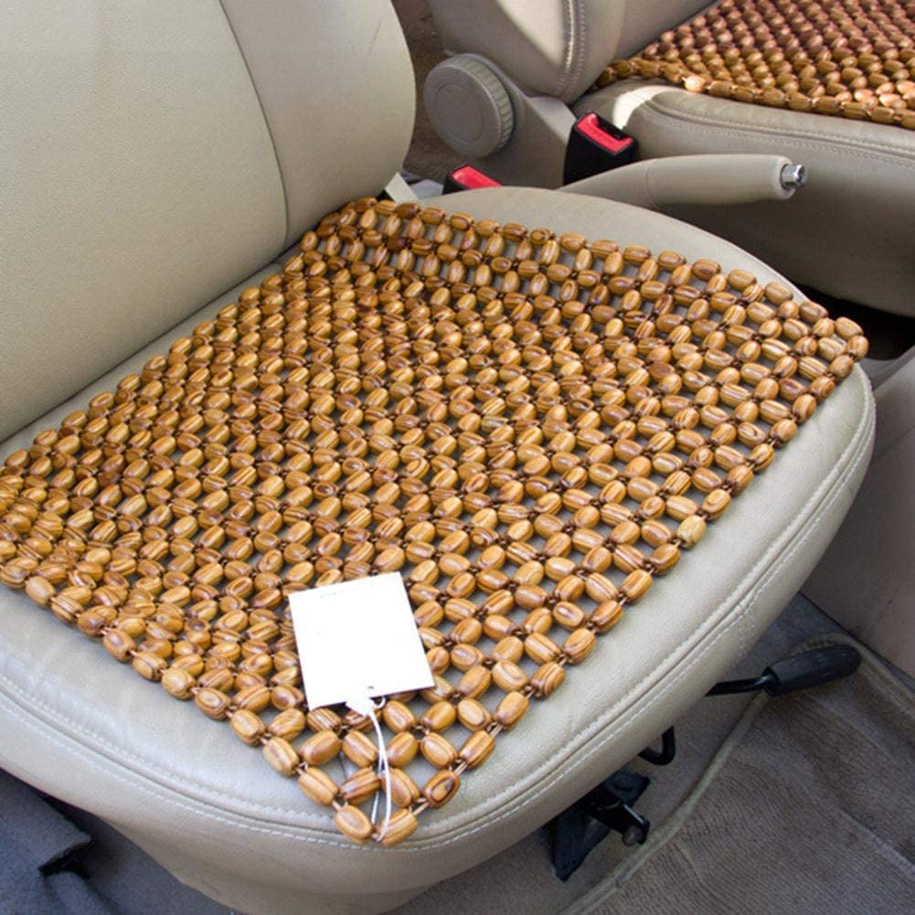 Car Front Seat Cover Cushion Wooden Beaded Massage