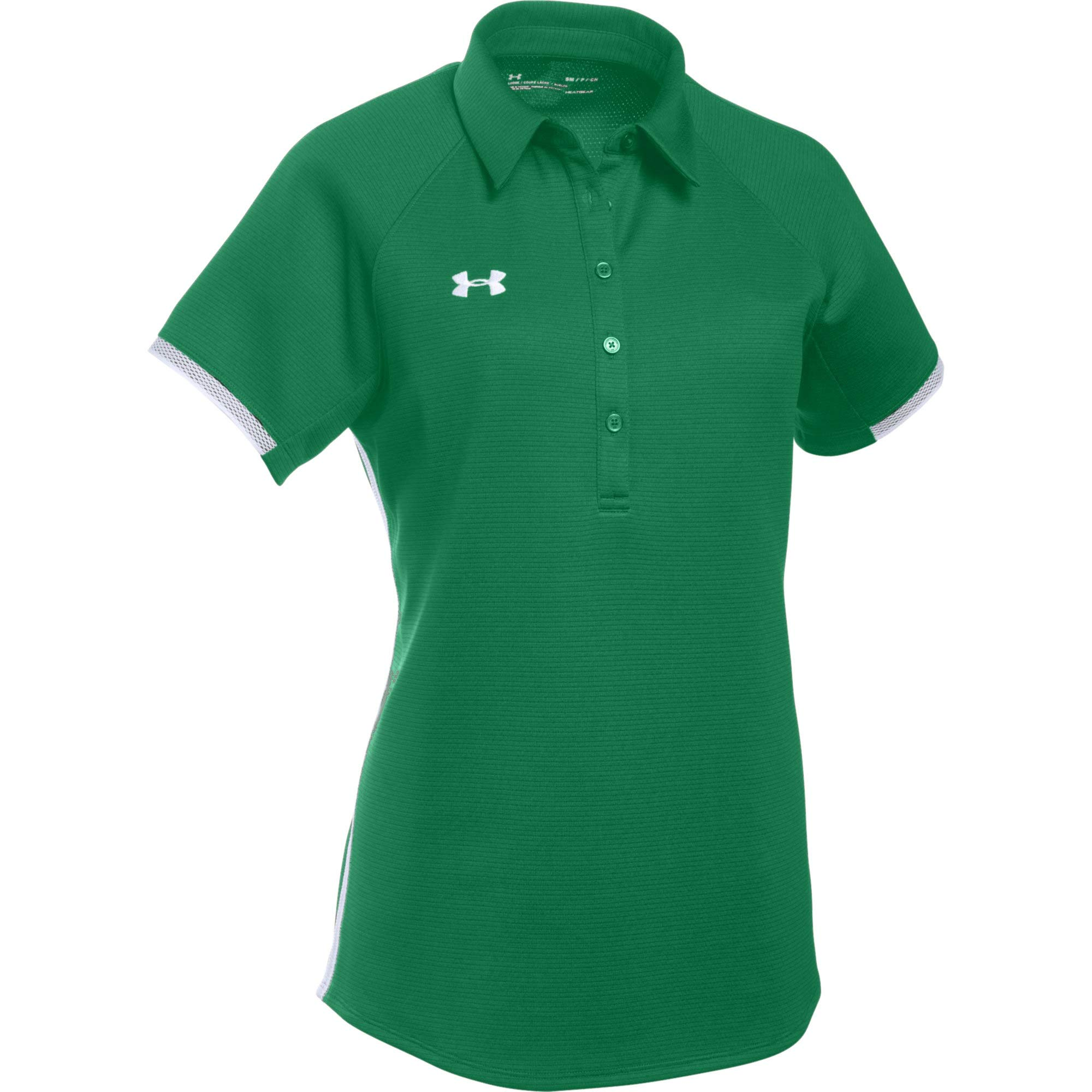 Under Armour Women's UA Rival Polo (X-Small, Kelly Green-White)