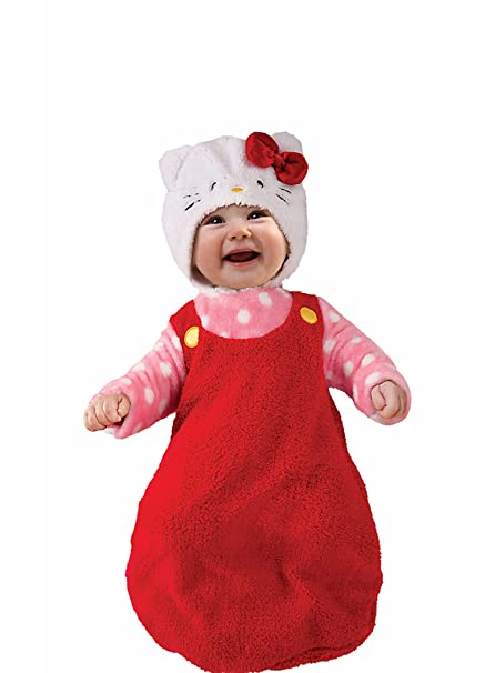 84ee99df7 Amazon.com: Hello Kitty Baby Infant Bunting with Hat, Halloween Costume,  Dress Up: Clothing