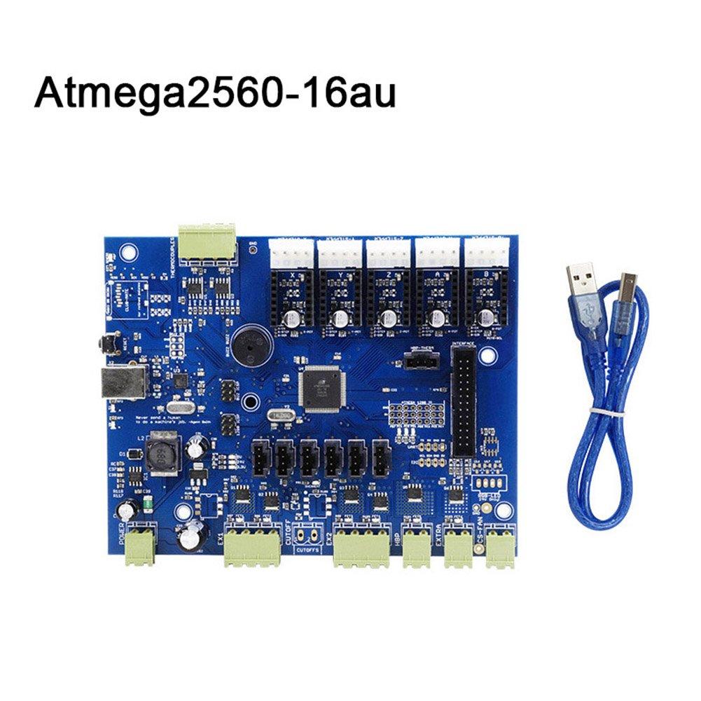 ZREAL Réplicateur G Mighty Board avec IC Atmega1280-16au / Atmega2560-16au + câble pour imprimante Makerbot 3D