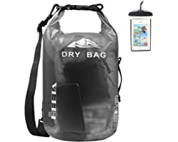 HEETA Waterproof Dry Bag for Women Men, 5L/ 10L/ 20L/ 30L/ 40L Roll Top Lightweight Dry Storage Bag Backpack with Phone Case