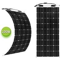 newpowa 100W 12V Semi Flexible Módulo Solar