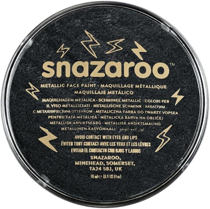 Snazaroo- Pintura facial y Corporal, 18 ml, Color negro metálico, 0 (Colart 1118110): Amazon.es: Juguetes y juegos