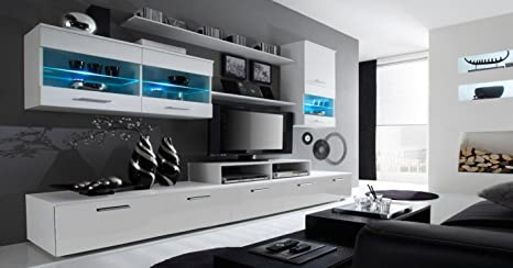 Home Innovation Modular Wall Unit Gloss Wall Unit With Cabinets Living Room Living Room Dining Room