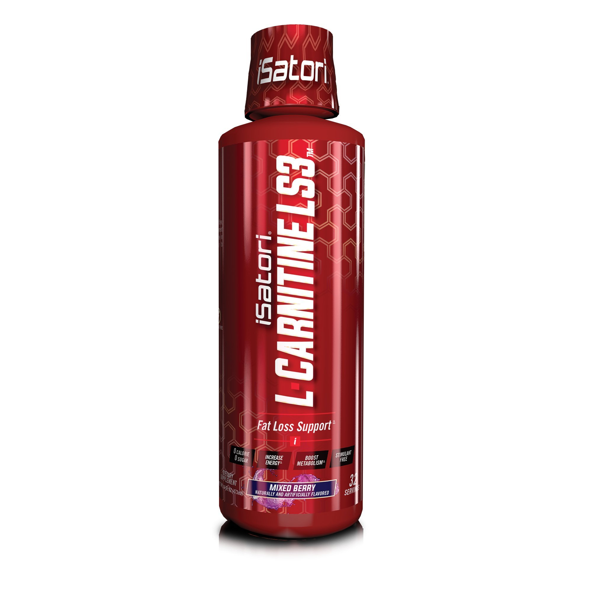 iSatori L-Carnitine LS3 Concentrated Liquid Fat Burner and Metabolism Activator - Fat Burner for Health and Fitness - -Stimulant Free Mixed Berry 1500mg - 32 Servings
