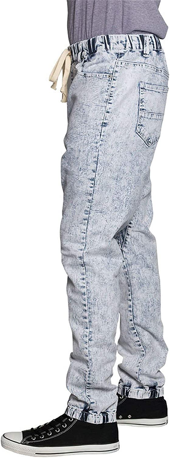 Men's Vintage Pants, Trousers, Jeans, Overalls Victorious Mens Drop Crotch Joggers Denim Jean Pants $32.00 AT vintagedancer.com