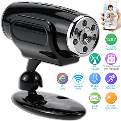 Mini HD 720P Wireless IP Camera Wifi AP Hotspot Connection P2P Wifi Camera Support TF Card