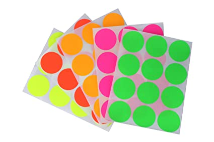 Colored Dot Stickers 1.5 Inch 38mm Circular Labels For Marking Crafts 180 Pack Greeting Cards & Party Supply