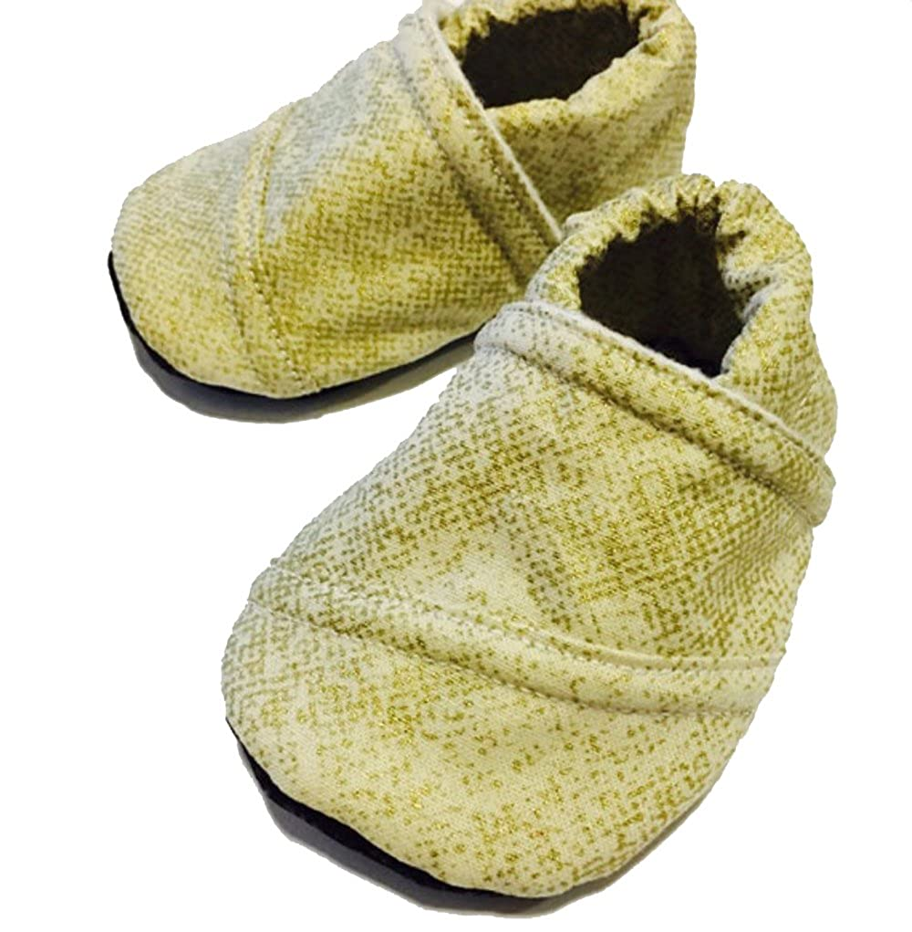TBMS Baby Infant Toddler Gold Soft-Soled Shoes Slippers Moccasins Booties