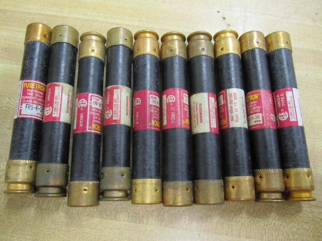 Bussmann FRS-R-30 Fusetron FRSR30 Fuse (Pack of 10)