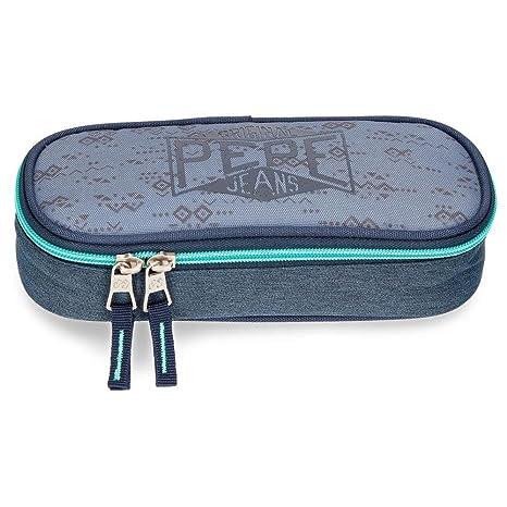 Pepe Jeans Pierce Neceser de Viaje, 22 cm, 0.99 litros, Azul ...