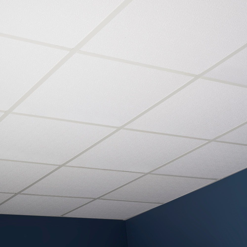 Genesis Easy Installation Stucco Pro Lay-In White Ceiling Tile/Ceiling Panel, Carton of 12 (2' x 2' Tile) by Genesis (Image #7)