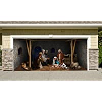 outdoor decoration nativity scene christmas holiday home garage door decor banner billboard