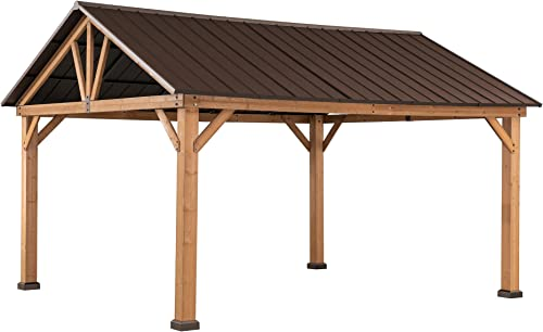 Sunjoy A102008000 Gale 10×12 ft. Cedar Framed Gazebo