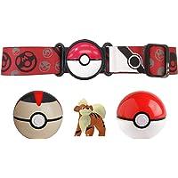 BANDAI Pokémon – Cinturón Poké Chrono Ball y Figura de 5 cm Caninos – Accesorio – WT98006