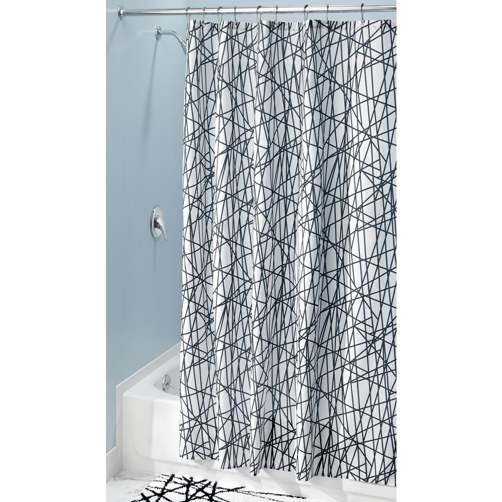 Amazon.com: InterDesign Abstract Fabric Shower Curtain, 72\