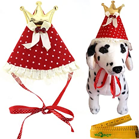 Easyinsmile Cute Adorable Dog Cat Birthday Cake Hat Pet Cap With 5 Color Candles