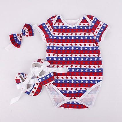 6e7c79c66 Amazon.com  Reborn Baby Doll Romper Clothes Headband Shoes Set for ...