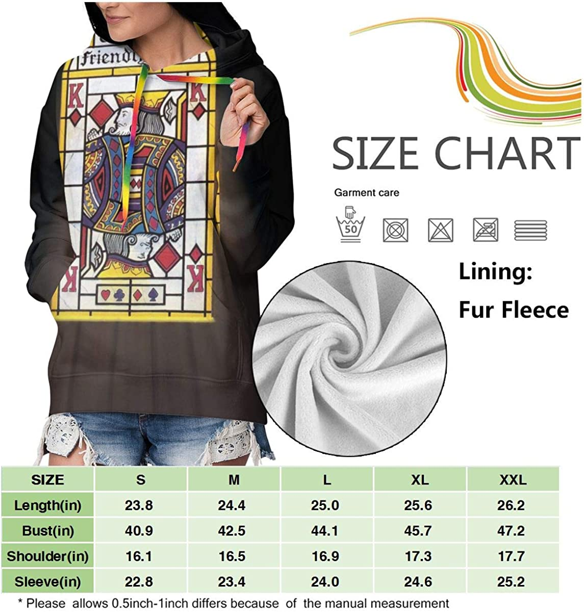 KennethDubreuil Womens The Alan Parsons Pocket Long Sleeve Casual Hoodie