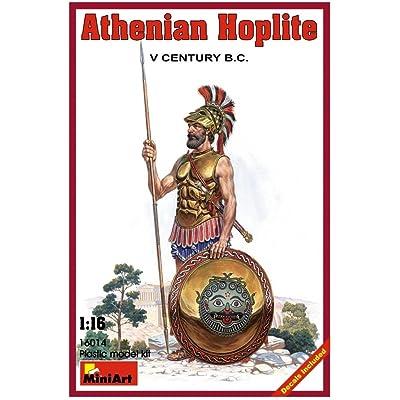 MiniArt 1/16 Scale Athenian Hoplite. V century B.C. - Historical Figures Series Plastic Model Kit #16014: Toys & Games