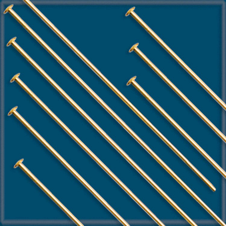 50pcs 2 12K Gold-Filled HEADPINS 22 Gauge #KD-17 by JETRIM (Image #1)