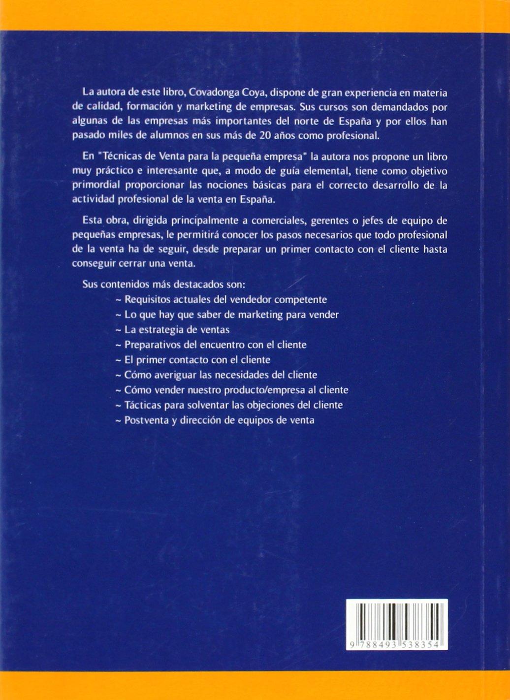 Tecnicas de venta de la pequeña empresa: Amazon.es: Coya Villa ...