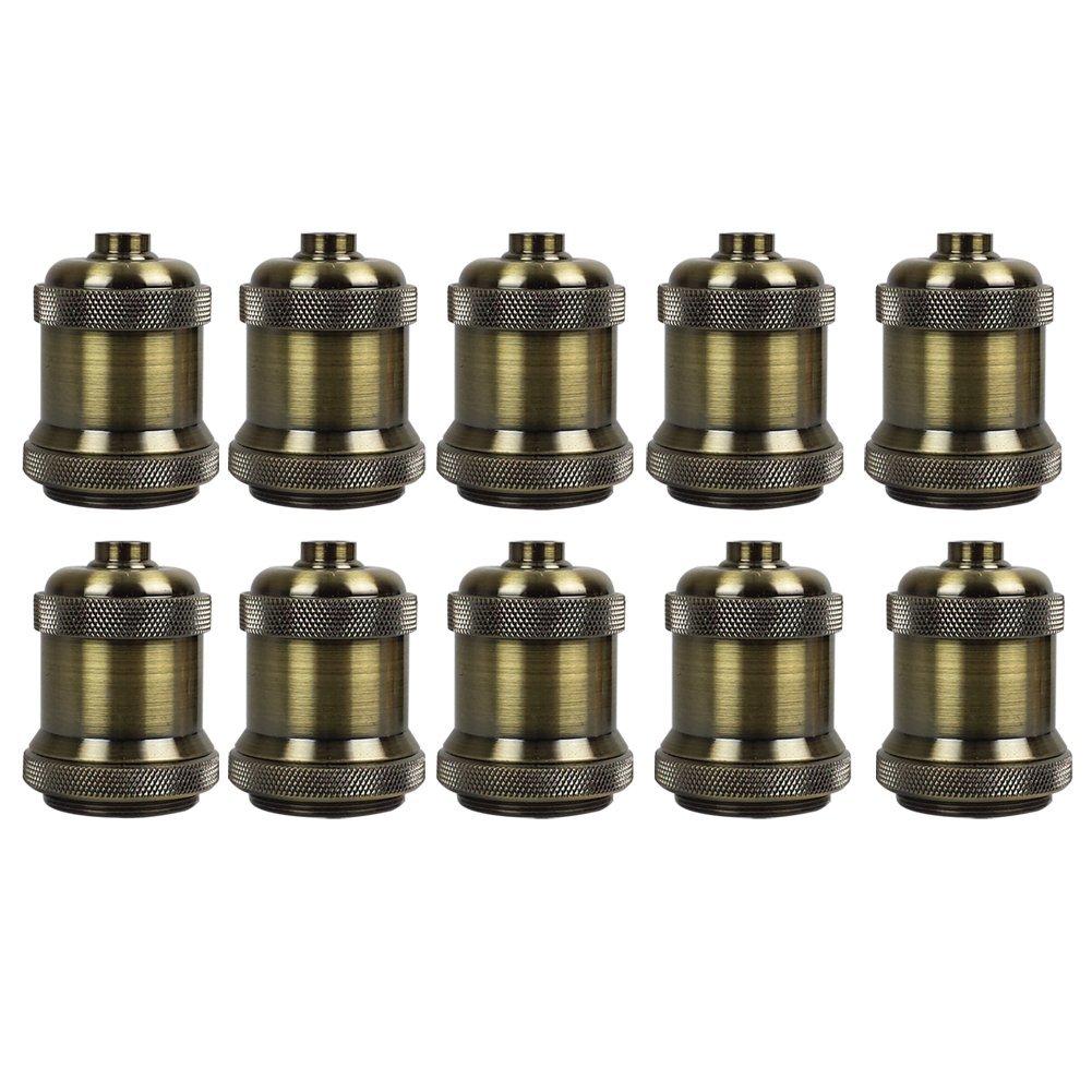 AAF Antique Bronze Metal Light Socket Shade Holder, E26 / E27, Pack Of 10 by AAF