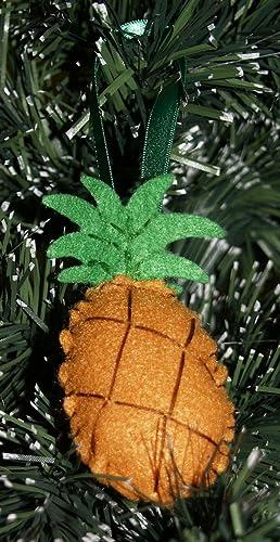 christmas ornament felt ornament aloha juicy pineapple felt ornament