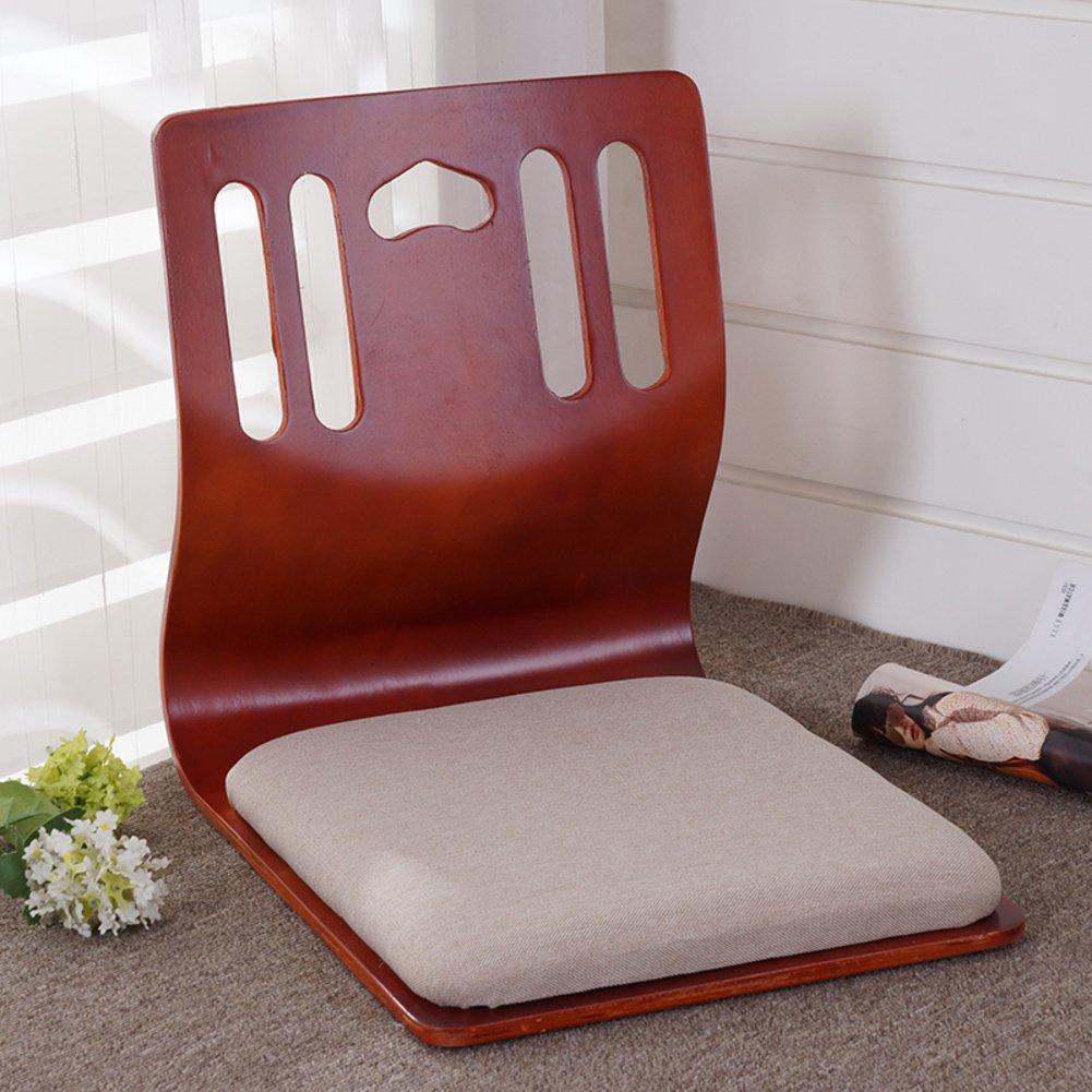 QIQ Tatami Room Chair,Bed Dormitory Back Chair Japanese Legless Chair Bay Window backrest Chair Lazy Chair Cushion-Q by QIQ