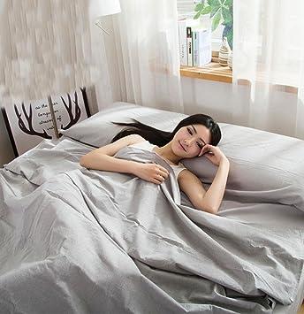Viaje de lavado de algodón sucio saco de dormir portátil doble 180 cm * 210 cm ...