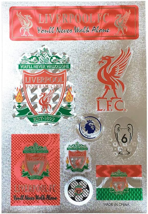 Louishop Football Club Stickers Laptop Stickers for Car Motorcycle Bicycle Luggage Graffiti Patches Skateboard Wall Decals (Liverpool)