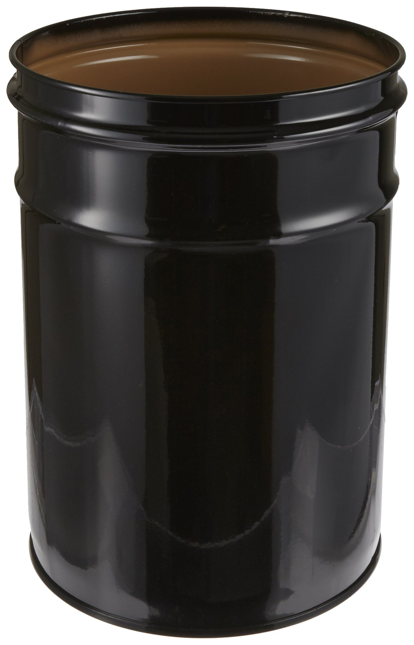 Justrite 26050K Cease-Fire Steel Drum, 6 Gallon Capacity, 11-3/4'' OD x 15-3/4'' Height, Black