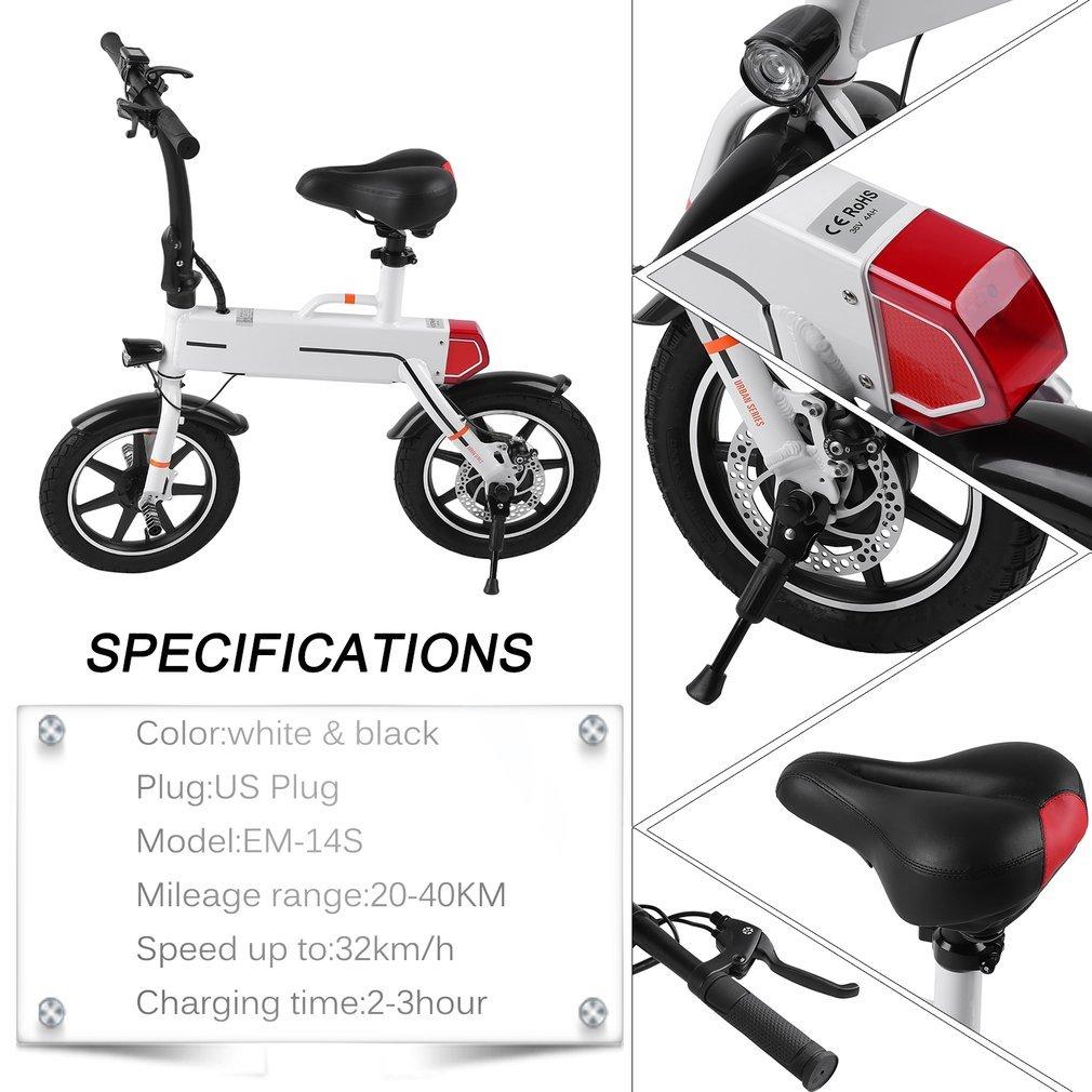 Amazon.com: Simoner Mini Bicicleta Eléctrica Plegable/E-Bike ...