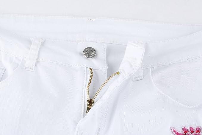Amazon.com: Ermonn - Pantalones vaqueros elásticos de ...