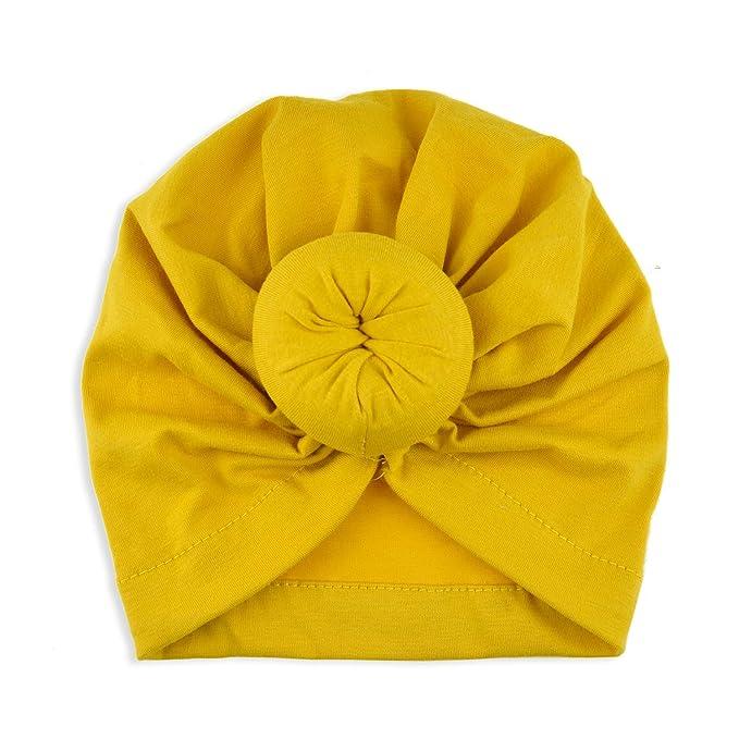 Baby Turban Top Knot Hat Toddler Kids India Beanie Hat Soft Newborn Headwear