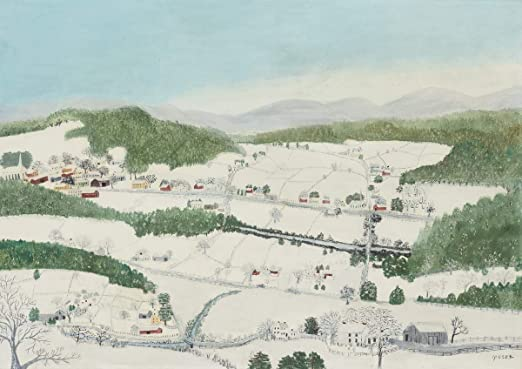 Grandma Moses Spring Time Giclee Art Paper Print Paintings Poster Reproduction