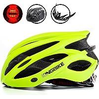KING BIKE Cycle Helmets +Portable Helmet Backpack/Detachable Visor/Safety Rear Led Light/CE Certification (M/L;L/XL)